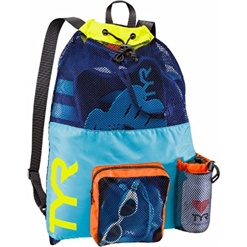 TYR Big Mesh Mummy Backpack, Blue/Yellow, Medium