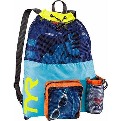 TYR Big Mesh Mummy Backpack, Blue/Yellow, ()