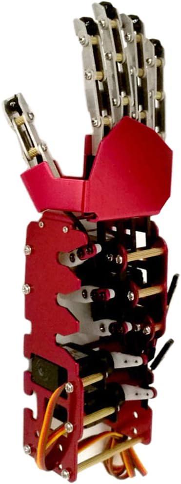 Almencla Brazo Robótico Mano Derecha Biónico de Micro Servo 5-6V de Metal Industrial