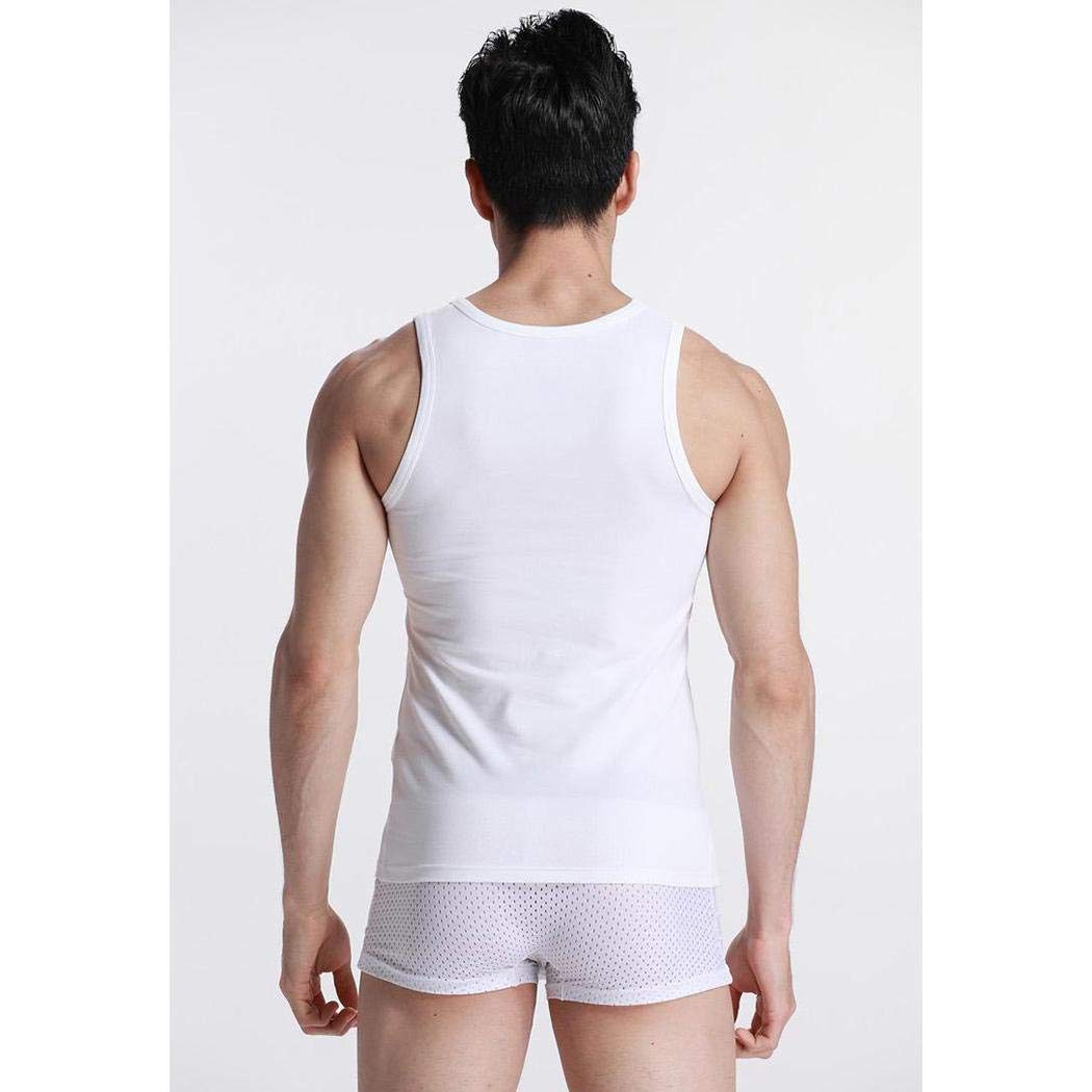 Asatr Men Casual O Neck Sleeveless Solid Cotton Vest Tank Tops Tank Tops