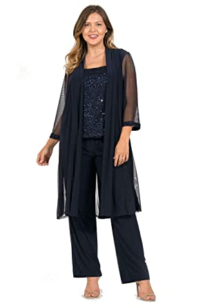 6fe4512ee4 R M Richards Mother of The Bride Plus Size Pant Suit at Amazon Women s  Clothing store