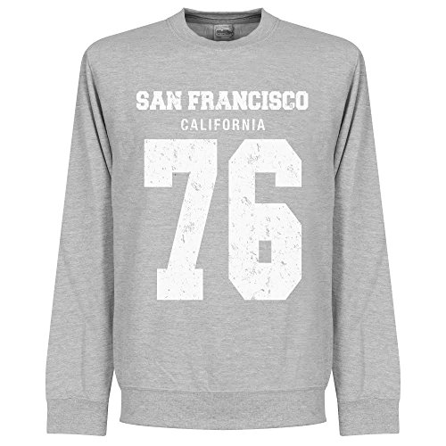San Francisco? 76-Felpa, colore: grigio chiaro