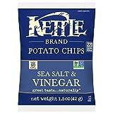 Kettle Brand Potato Chips, Sea Salt and Vinegar, Single-Serve 1.5 Ounce (Pack of 64)