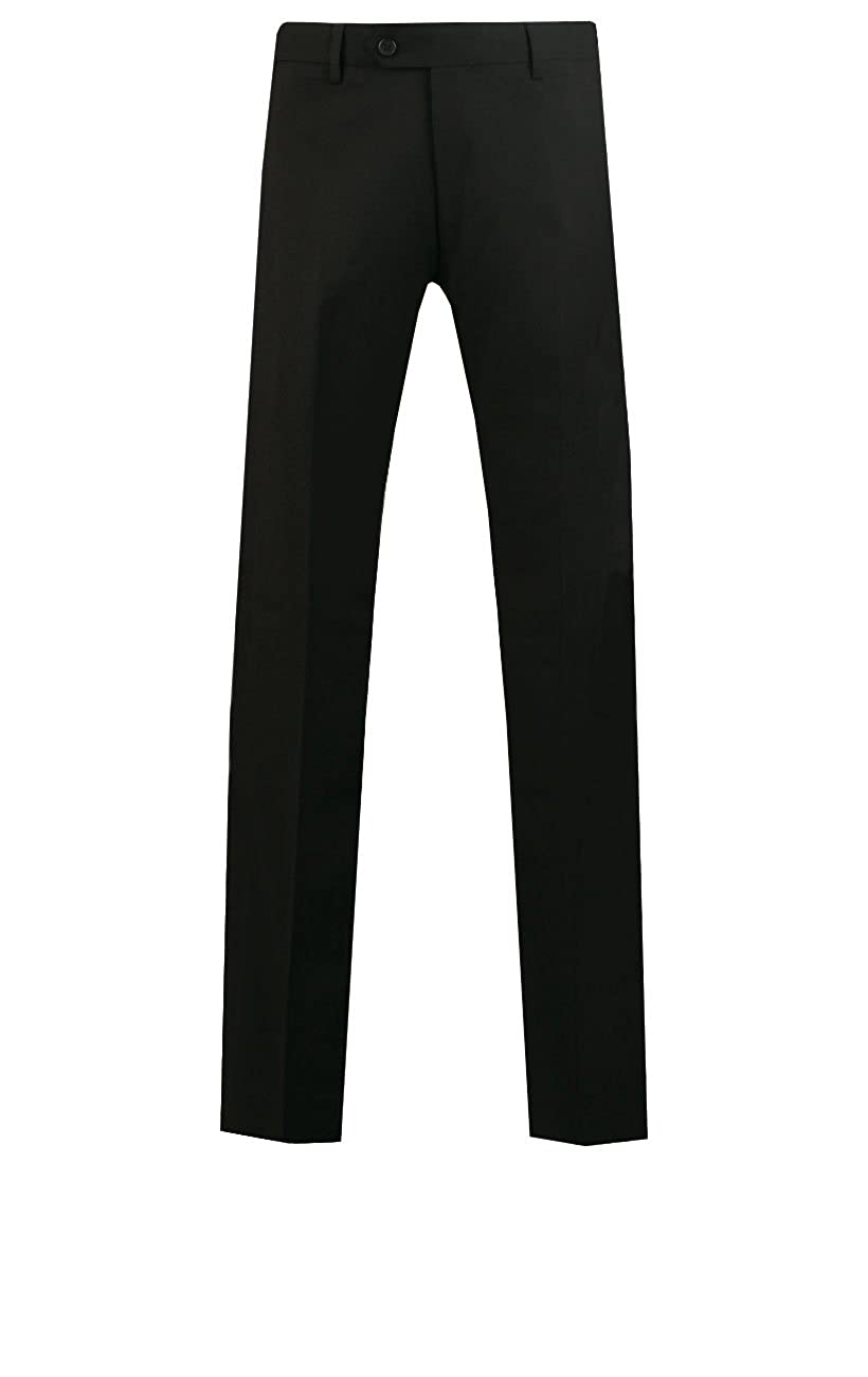 Dobell Mens Black Suit Trousers Slim Fit Travel//Performance