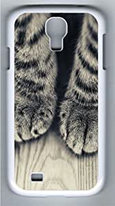 Animals 095 Polycarbonate Hard Case Cover for Samsung Galaxy S4 I9500¨C White
