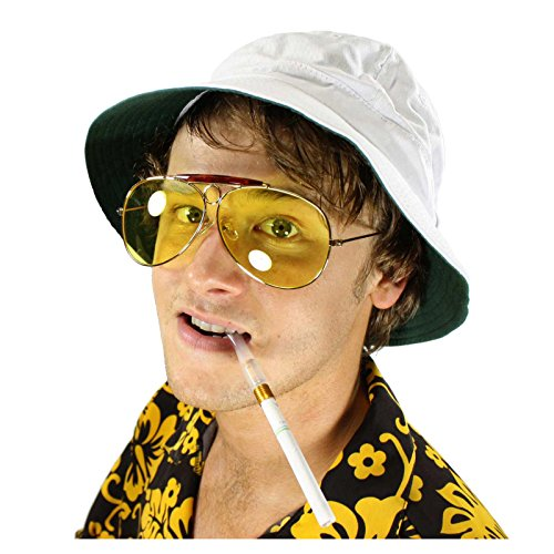 [Raoul Duke Hunter S Thompson Fear & Loathing in Las Vegas Costume Kit (XL (24.5 in/62 cm))] (Gonzo Adult Costumes)