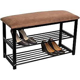 Sorbus Shoe Rack Bench – Shoes Racks Organizer – Perfect Bench Seat Storage for Hallway Entryway, Mudroom, Closet, Bedroom, etc