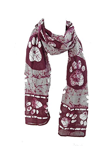 womens-paw-prints-all-over-cotton-batik-scarf-20-x-70-perfect-for-dog-lovers-taupe-burgundy