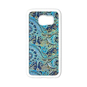 Durable Platic Case Cover for Samsung Galaxy S6-Floral Damask Pattern Printed Cell Phones Shell