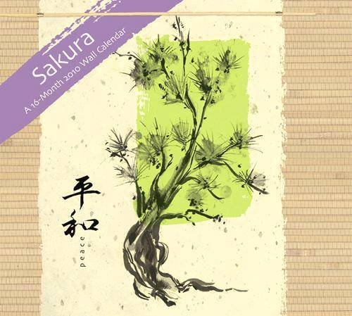 Sakura by Flavia Linen 2010 Wall - Linen Wall 2010 Calendar