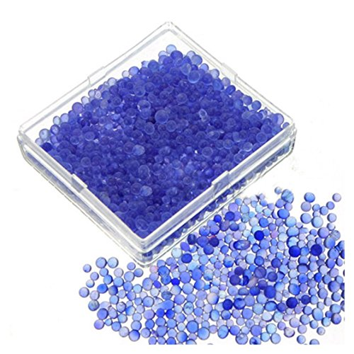 SODIAL(R) 2pcs Blue Indicating Silica Gel Desiccant Moisture For Absorb Box Reusable
