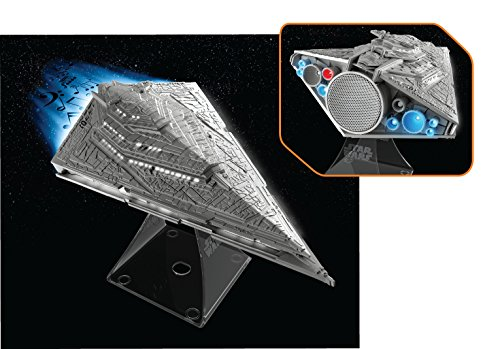 092298924694 - Star Wars Bluetooth Speaker - The Force Awakens First Order Star Destroyer Villain Flagship Lights Up When In Use carousel main 3