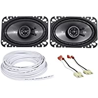 Jeep Wrangler Yj 87-95 Kicker 40CS464 4X6 Front Factory Speaker Replacement+Wire