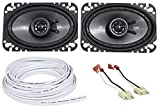Kicker 4X6'' Front Factory Speaker Replacement + Wire For 87-95 Jeep Wrangler Yj