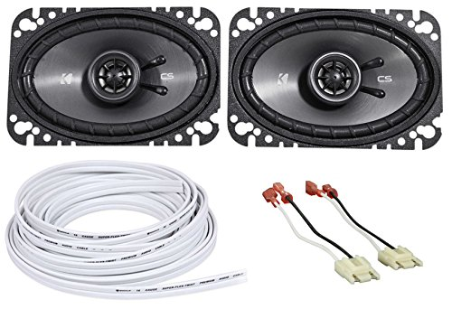 Kicker 4X6'' Front Factory Speaker Replacement + Wire For 87-95 Jeep Wrangler Yj by Jeep