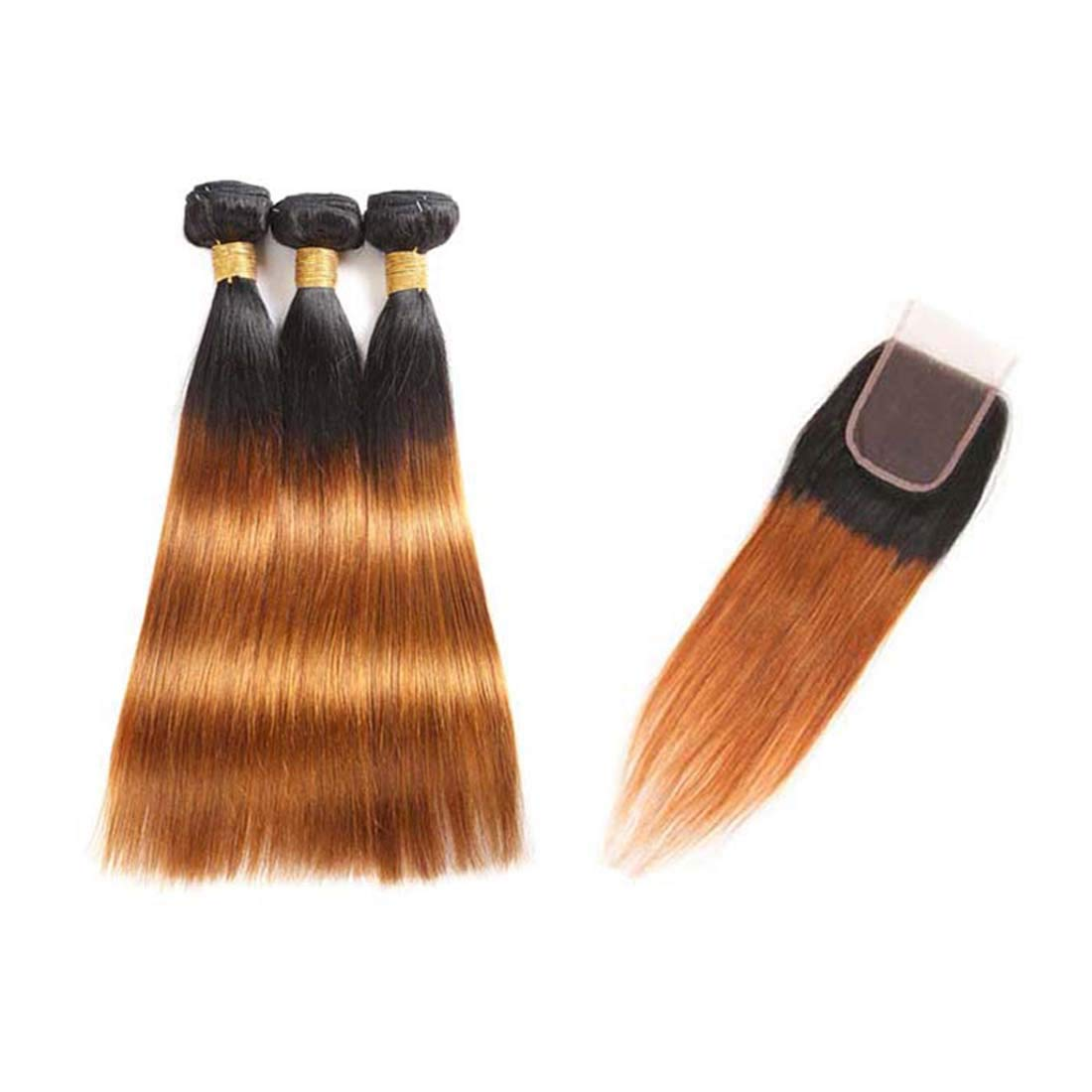 Seelaak 10A Ombre Brazilian Great interest Hair Bundles 3 Remy Limited Special Price Closure with Bun