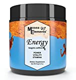 Mosea Elements Natural Energy Supplement - Vegan Pre Workout Powder For Women And Men All Natural Post Workout Recovery Drink Mix Add to Beverage or Smoothies with No Added Sugars or Fillers