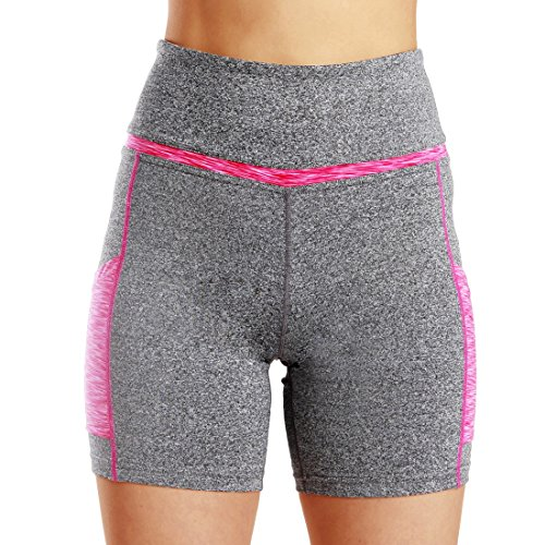 Mujeres cortos Pantalones Cintura yoga de Entrenamiento activos alta f BzqvBSw