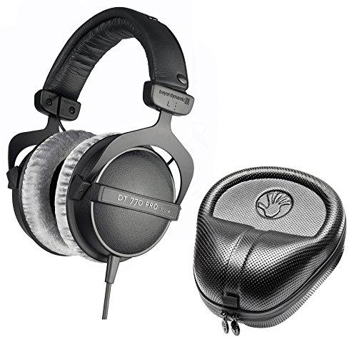Beyerdynamic DT 770 PRO 250 Ohm Closed Studio Headphones w/Slappa Case