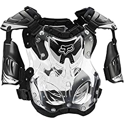 Fox Racing R3 Men\'s Roost Deflector Motocross Motorcycle Body Armor - Black / Large