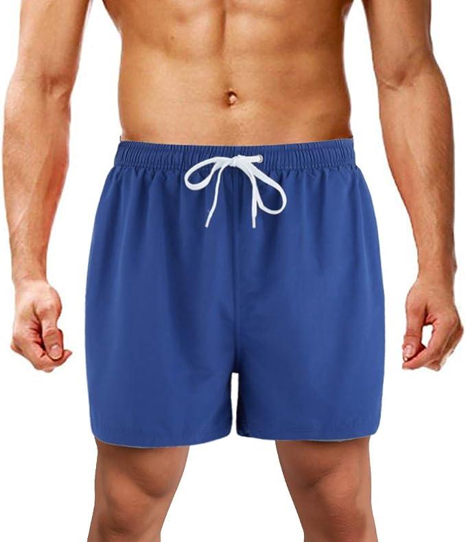 LK LEKUNI Pantaloncini da Bagno da Uomo Pantaloncini da Bagno Pantaloncini da Snowboard Asciugatura Rapida Multicolore