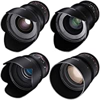 ROKINON CINE DS Cinema Lens Kit - 50mm, 35mm, 85mm, 24mm for Micro Four Thirds