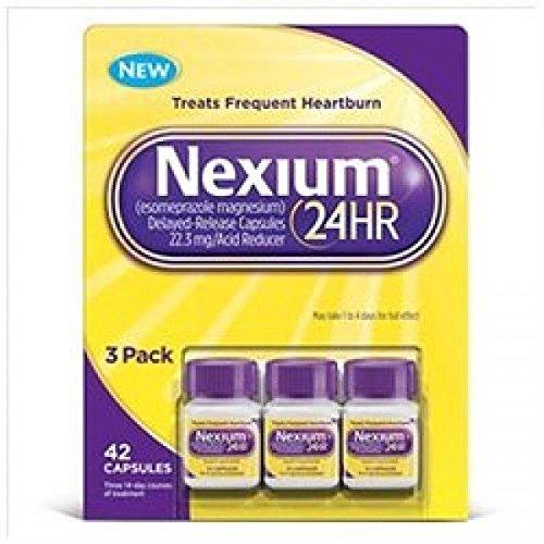 Nexium 24HR Acid Reducer Delayed Release 3 pack 42 capsules -