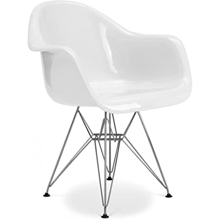 Surprising Dar Chair Charles Eames Style Fiberglass Gloss White Onthecornerstone Fun Painted Chair Ideas Images Onthecornerstoneorg