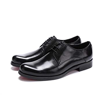 4f23425e10e4 Zaqxs Business Dress Shoes Pure Leather Tie Men s Work Shoes Banquet Low  Shoes Wear Large Size