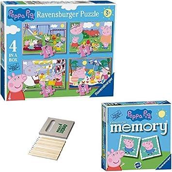 Price Toys Peppa Pig Rompecabezas Regalo Set-4 en una Caja (12, 16 ...