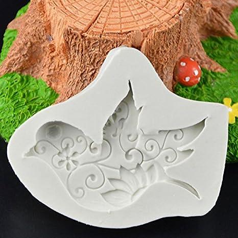 Silicona mold-auykoop pájaro paloma molde de silicona 3d Fondant Chocolate cookware company moldes DIY Pastel Azúcar Craft Decoración: Amazon.es: Hogar