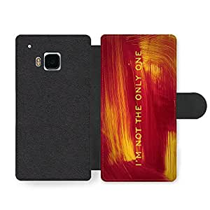 I'm Not The Only One Lyrics Pop Music Quote Faux Leather case for HTC One M9
