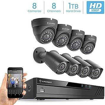 Amcrest Full-HD 1080P 8CH  Video Security System w// 4 X 2.0 MP AMDV10818-4B-B