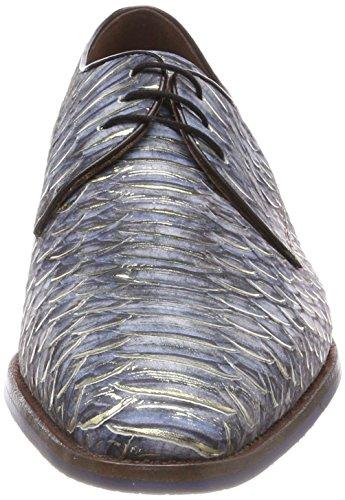 14170 Blu Scarpe 00 Blue Derby Bommel van Uomo Stringate Floris Eq6Pw