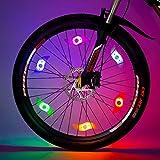 Willceal Bike Spoke Light 6PCS, Bike Wheel Light,Tyre Wire Right with 6 LED Flash Model Neon Lamps,Bike Safety Alarm Light.