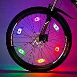 Willceal Bike Spoke Light 6PCS, Bike Wheel Light,Tyre Wire Right with 6 LED Flash Model Neon Lamps,Bike Safety Alarm Light.
