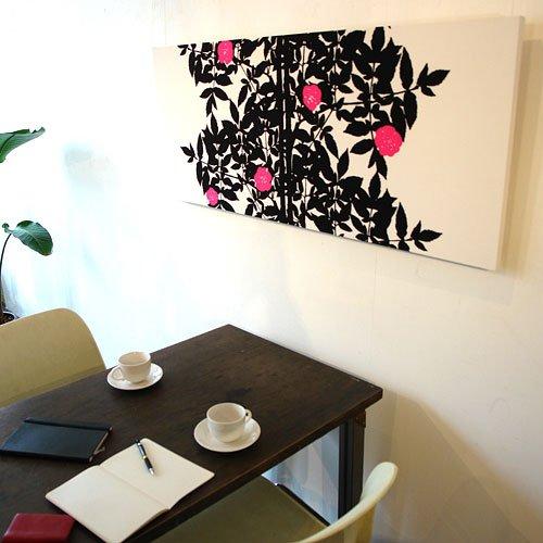 marimekko マリメッコファブリックアートパネル RUUSUPUU 1200×500mm(類語/ファブリックボード,ファブリックパネル) B002G0WKM8