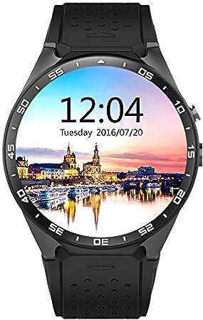 SmartWATCH Premium HQ1 (Original) Reloj Bluetooth con Whatsapp* y Tarjeta SIM Android OS (Google Play Store, medidor de ritmocardíaco, GPS) para Apple ...