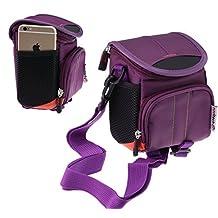 Navitech Purple Digital Camera / Compact DSLR Case Bag For The Casio EX-ZR3500 / EX-ZR50 / EX-FR10 / EX-ZR1500 / EX-ZR850 / EX-100