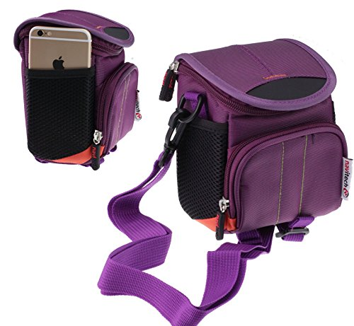 Navitech Purple Digital Camera/Compact DSLR Case Bag Compatible with The Ricoh G800 / WG-5 / WG-30 Wi-fi/WG-30