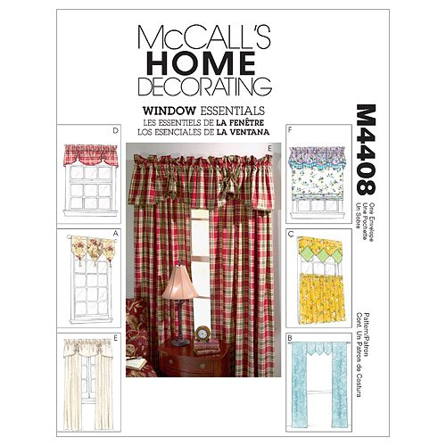 0.375 Window Awning (McCall's Patterns M4408 Window Essentials (Valances and Panels), All Sizes)