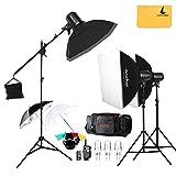 Godox E300 300W Photo Studio Strobe Flash light,FT-16 Trigger,Soft box 50 x 70 cm,33 inches Reflector Umbrella,Photography Stand,Carrying Bag,Speedlite.