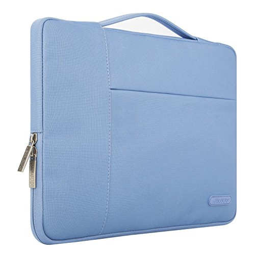 Mosiso Polyester Fabric Multifunctional Sleeve Briefcase Handbag Case Cover Only for 2016 Newest MacBook Pro 13 Inch with/without Touch Bar (A1706/A1708), Serenity Blue