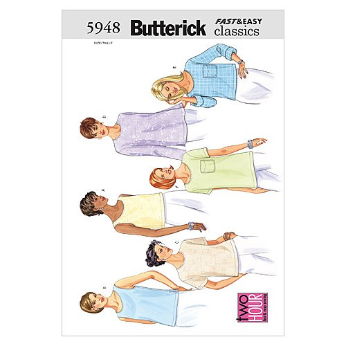 BUTTERICK PATTERNS B5948 Misses'/Misses' Petite Top, Size 8-10-12 from BUTTERICK PATTERNS