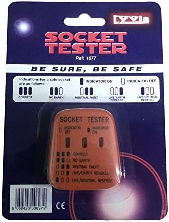 Secteur Britannique Testeur Prise 240 V polarité Test//3 broches Maison Câblage Électrique