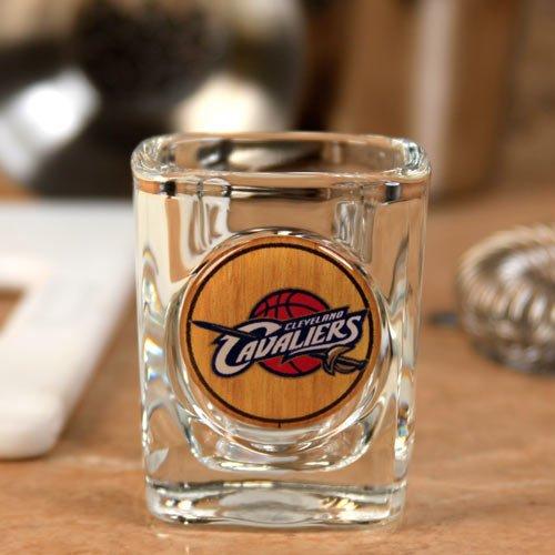 NBA Cleveland Cavaliers 2 oz. Crystal Coat Emblem Square Shot Glass