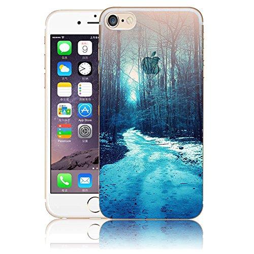 Funda para iPhone 7 8, Vandot TPU Silicona Pintado Funda para iPhone 7 8 Patrones de Pintura Case Suave Flexible Silicone Gel Paisaje Cajas de Teléfono móvil para iPhone 7 / iPhone 8 4.7 - Volcán y E Scenery 29