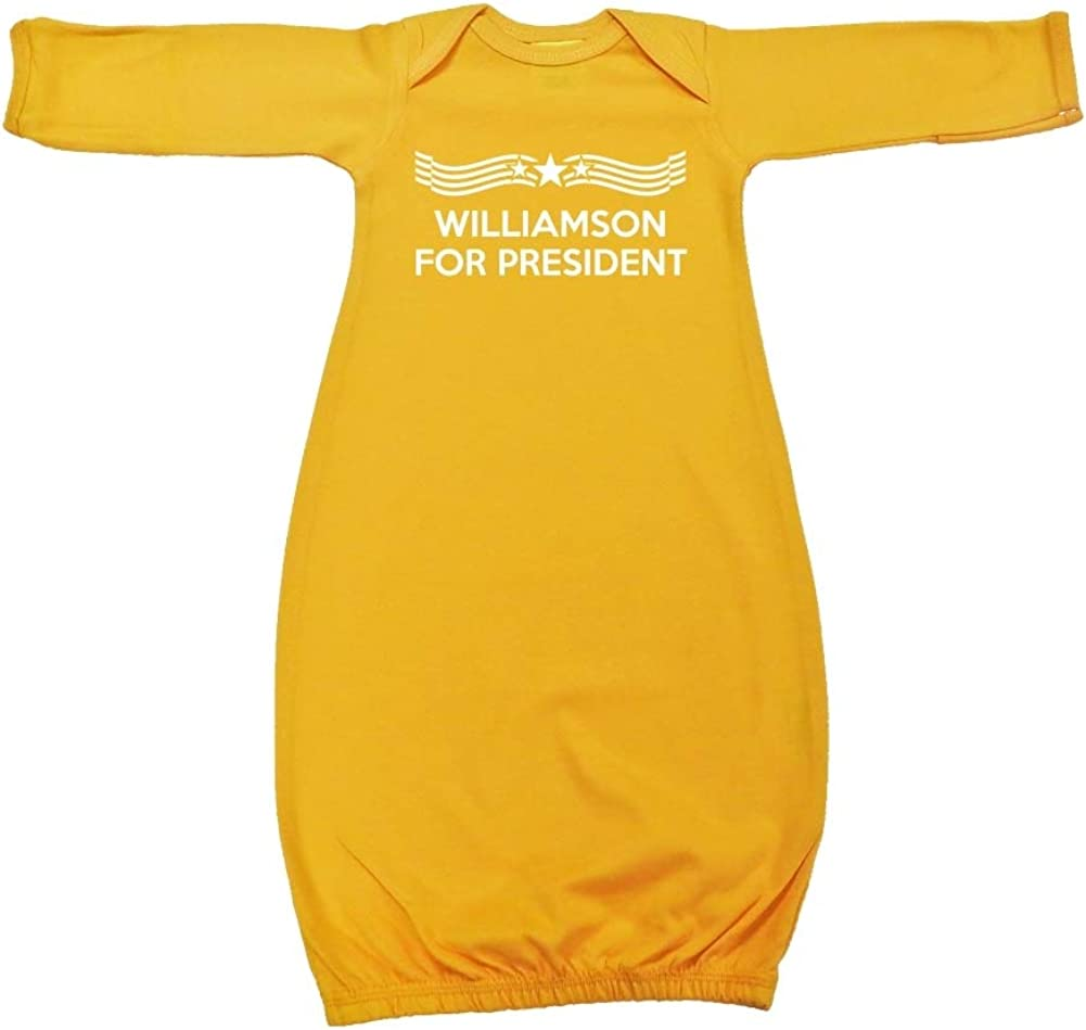 Star Banner Presidential Election 2020 Baby Cotton Sleeper Gown Williamson for President