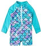 uideazone Kids Girls One Piece Rashguard Swimsuit