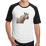 Sakanpo Men Honest Zebra Raglan Short Sleeve Baseball T Shirt